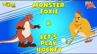 Monster Bhukkad | Let's Play Hockey- Eena Meena Deeka - Animated cartoon for kids - Non Dialogue