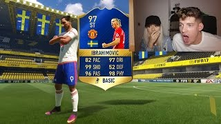THE WORST WAY TO PACK IBRAHIMOVIC... FIFA 17 BPL TOTS PACK OPENING