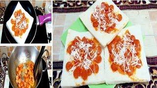 Pizza Roti Tawar Simpel Panggang Teflon-Cara Membuat & Resep