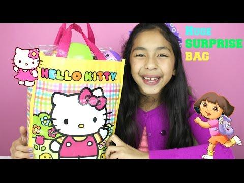 Huge Hello Kitty Surprise Bag Dora the Explorer Activity Kit Surprise Egg B2cutecupcakes