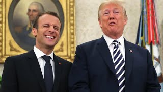 Trump and Macron celebrate friendship amid Iran nuclear debate
