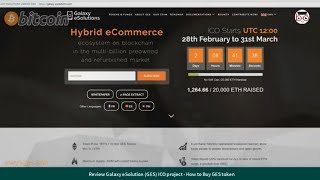 Review Galaxy eSolution (GES) ICO project - How to Buy GES token (1ETH = 10000 GES token)