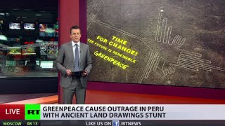 Greenpeace damages ancient Nazca lines in Peru