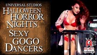 Sexy Go Go Dancers Universal Horror Nights 2013 Universal Studios Hollywood