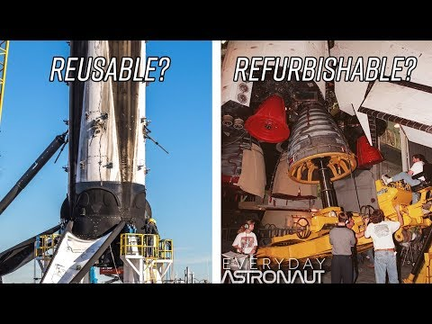Will the Falcon 9 actually be reusable or just refurbish able like the Space Shuttle