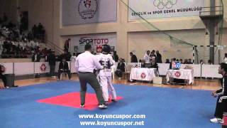 55kg Mehmet Akif Isitan - Erdem Yildirim (Turkish Junior Taekwondo Championships 2012)