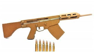 How to Make Gun at Home Easy with Cardboard M-16