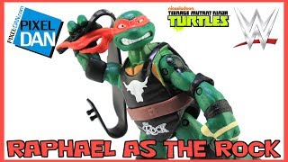 TMNT WWE Raphael as The Rock Ninja Superstars Turtles Figure Video Review