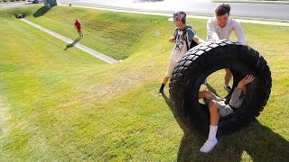 EXTREME TIRE RIDING!!