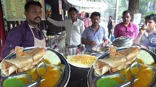 Vegetable Masala Dosa with Free Vada/ Idli    Only 45 Rs Per Plate    Indian People Crazy for It