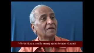Why is Hindu temple money spent for non Hindus ?