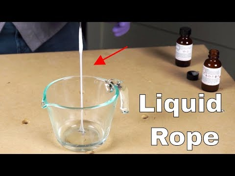 Making Spiderman's Web—The Liquid Rope Experiment with Nylon 6,10
