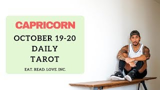 """CAPRICORN SOULMATE """" YOU """" DAILY OCT 19 - 20 TAROT READING"""