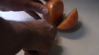 Striped German Heirloom Tomato Taste Test.