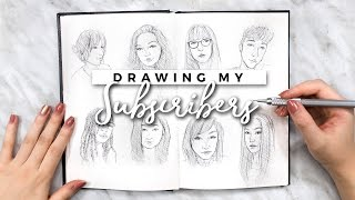 DRAWING MY SUBSCRIBERS (AGAIN) + 200K GIVEAWAY! | Sketchbook Sessions Ep. 4
