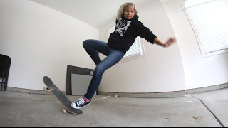 WIFE TRIES TO OLLIE ... AND THIS HAPPENED.