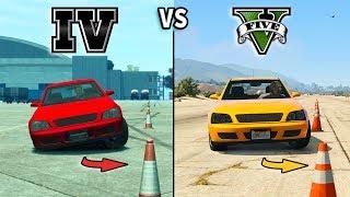 GTA V vs GTA IV - Car Gameplay Comparison