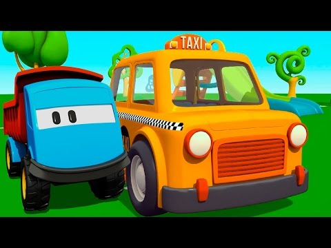 Мультфильм раскраска грузовичок лева учит цвета