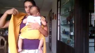 Baby wearing in cotton saree ( FWCC)