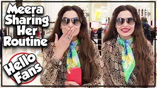Meera Sharing Her Routine In Dubai - Hello Fans - Meera Official