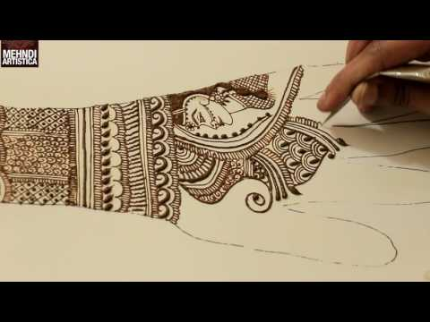 Xxx Mp4 Learn Intricate Side Face Dulhan Mehendi Bridal Mehndi Design Tutorial Step By Step 2017 Wedding 3gp Sex
