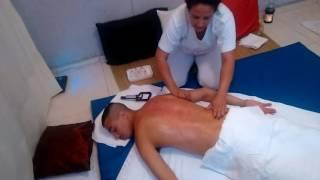 Massagem para dor muscular