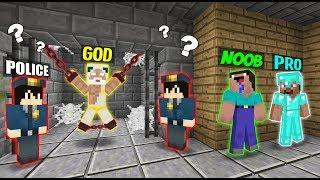 Minecraft NOOB vs PRO vs GOD: SAVE GOD FROM PRISON CHALLENGE in Minecraft Animation