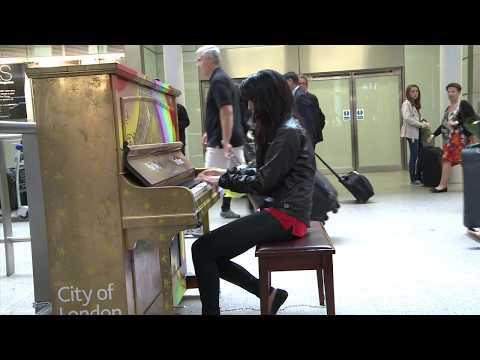 Street Piano Mozart Alla Turca Jazz by Fazil Say Version by AyseDeniz