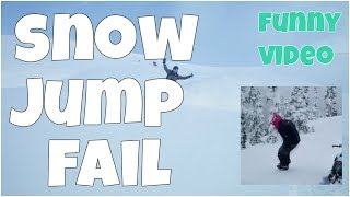 Snow jump fail 🔸 7 second of happiness FUNNY Video 😂#386