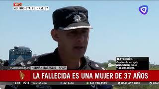 Choque fatal en la autopista Santa Fe