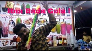 INDIA'S  BIGGEST ICE GOLA ! Indian street food ! Rabri faluda ! Juhu beach
