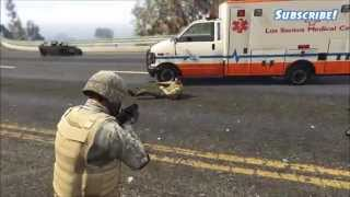GTA 5 One Man Army vs Police! Mods Tank Rampage and more!