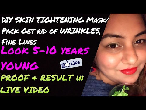 DIY MIRACLE Skin Tightening Mask | RESULT + PROOF in LIVE Video | Homemade MAGICAL ANTI WRINKLE Pack