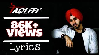 Takleef by Rohanpreet lyrics | TechBro Ishant