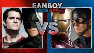 Batman/Superman vs Captain America/Iron Man: Fanboy Faceoff