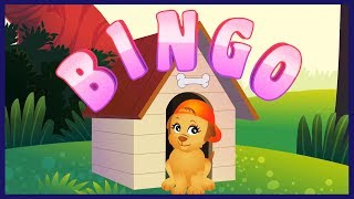 Bingo - The Dog Song | Nursery Rhyme For Children | KidRhymes