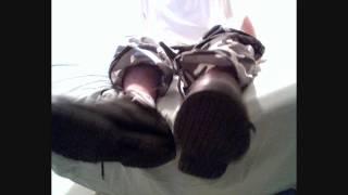 Big Sweaty Cuban Feet in Camo Pants and Double Socks - Part 1