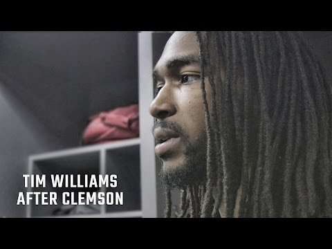 Hear what an emotional Tim Williams said after Alabama s loss to Clemson