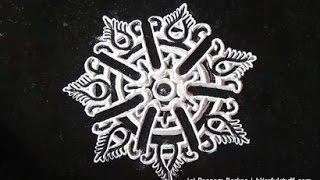 Beautiful and unique flower shaped rangoli pattern - 6   Innovative rangoli designs by Poonam Borkar