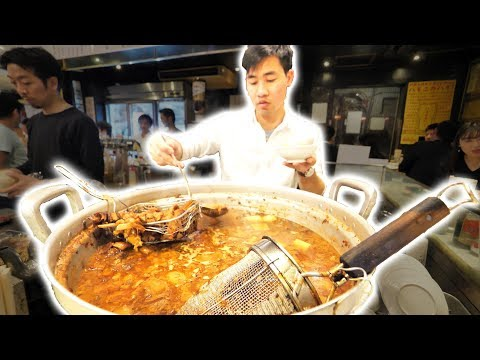 Japanese Street Food Tour DEEP in Tokyo Japan TASTY Japanese BBQ Pork Gyoza and AMAZING Sushi