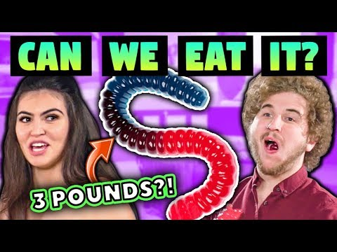 Can We Eat the Largest Gummy Worm in the World Challenge Chalice