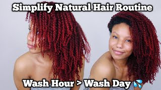 Simplify Your Natural Hair Routine | Turn Wash Day Into Wash Hour