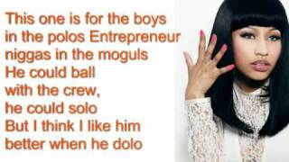 Nicki Minaj Super Bass Lyrics - Original HQ NEW