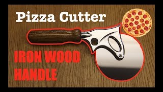 How to MAKE a HUGE PIZZA CUTTER! \\ IRON WOOD.