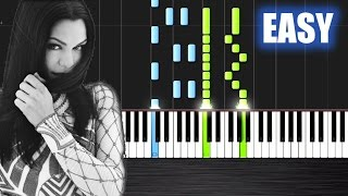 Jessie J - Flashlight - EASY Piano Tutorial by PlutaX - Synthesia
