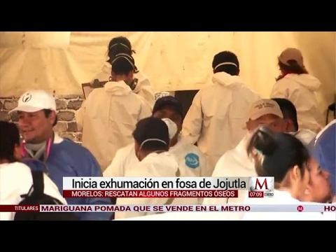 Inició exhumación de restos en fosas de Jojutla, Morelos