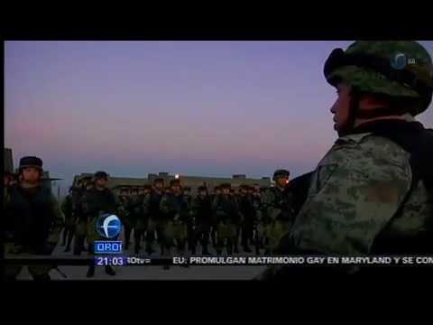 Militares parten a Ciudad Mante Tamaulipas.
