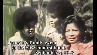 Michael Jackson & Family Encino private Party 70's | Rare Old footage