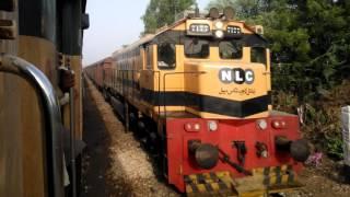 Pakistan Railways:46dn Pakistan Express X NLC freight train in Hyderabad