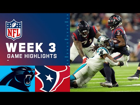 Carolina Panthers vs. Houston Texans Week 3 2021 NFL Game Highlights